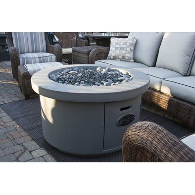 Urban Series Concrete Gas Fire Pit Table Finish: Storm Gray