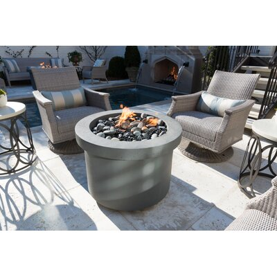 Urban Series Stone Gas Fire Pit Table Finish: Storm Gray