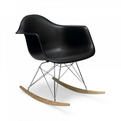 Eula Rocking Chair Color: Black