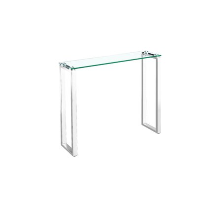 Ridinger Glass Console Table Size: 36""