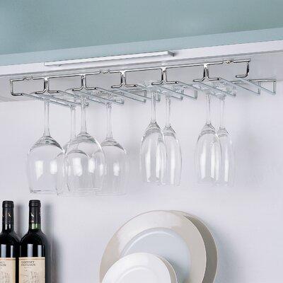 Prewitt Shelf Hanging Wine Glass Rack
