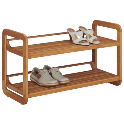 Organize It All Stackable 2-Tier Shoe Rack
