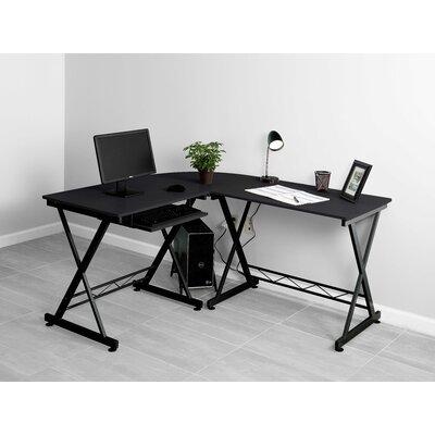 L-Shape Computer Desk Finish: Black