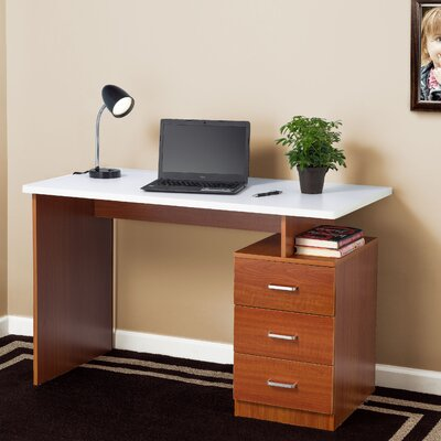 Desk Finish: Cherry/White