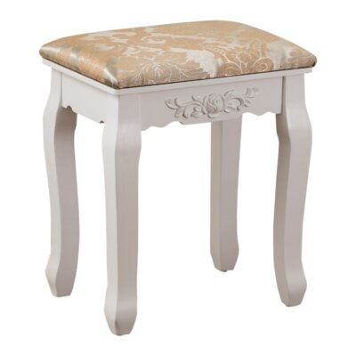 Bethalto Luxury Vanity stool Finish: White