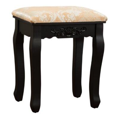Bethalto Luxury Vanity stool Finish: Black
