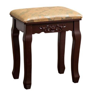 Bethalto Luxury Vanity stool Finish: Brown