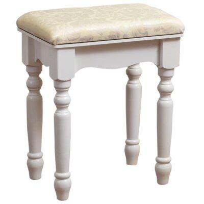 Bessey Luxury Vanity stool Finish: White