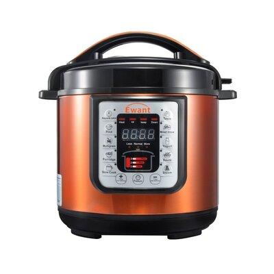 6 Qt. 9-in-1 Multi-Function Pressure Cooker Color: Orange