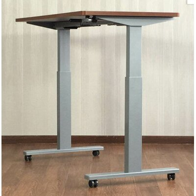 Electric Height Adjustable Standing Desk Color: Silver