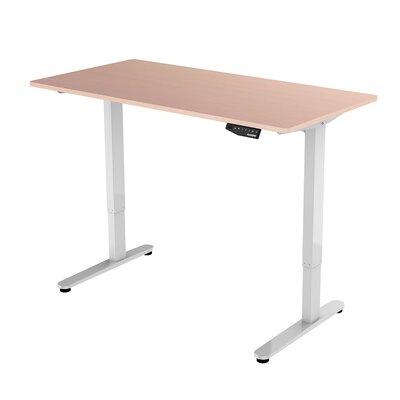 Standing Desk Color: Maple Top/White Frame