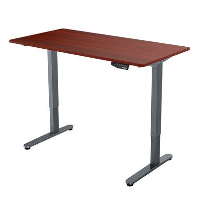 Standing Desk Color: Mahogany Top/Silver Frame
