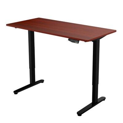 Electric Standing Desk Color: Mahogany