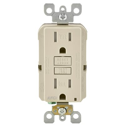 15 Amp AFCI Receptacle Finish: Almond