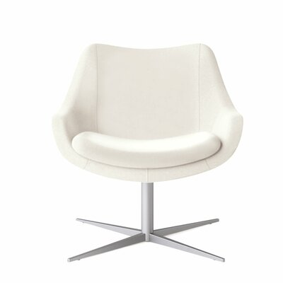Bloom Swivel Lounge Chair Color: Dolce White