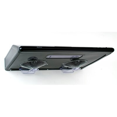 "30"" Classic 680 CFM Ducted Under Cabinet Range Hood Finish: Black"