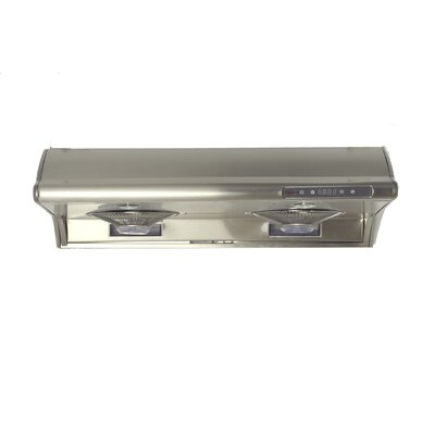 "30"" Classic 680 CFM Ducted Under Cabinet Range Hood Finish: Stainless Steel"