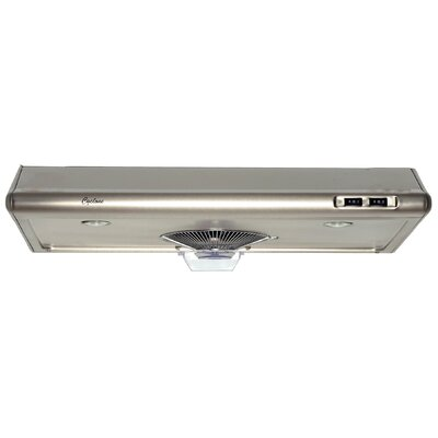 "24"" Classic 300 CFM Ducted Under Cabinet Range Hood Finish: Stainless Steel"