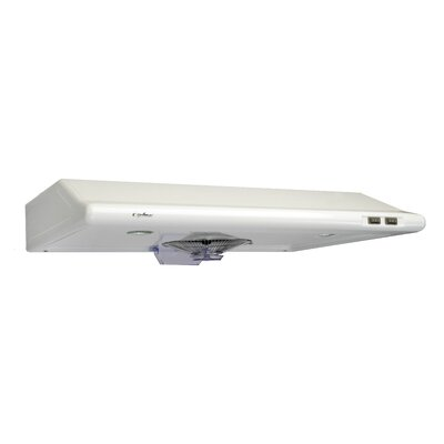 "30"" Classic 300 CFM Ducted Under Cabinet Range Hood Finish: White"
