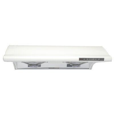 "30"" Classic 680 CFM Ducted Under Cabinet Range Hood Finish: White"