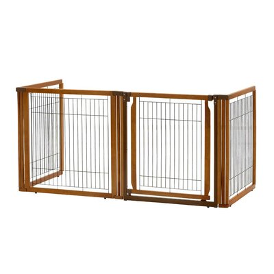 "Convertible Elite 4-Panel Pet Gate Size: 35.8"" H x 91.7"" W x 29.1"" D"