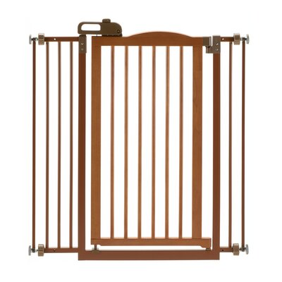 "One-Touch Pressure Mounted Pet Gate Finish: Autumn Matte, Size: 38"" H x 36"" W"
