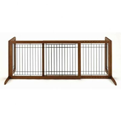 "Freestanding Pet Gate Size: Large (20.1"" H x 39.8"" - 71.3"" W x 17.7"" D), Finish: Autumn Matte Brown"