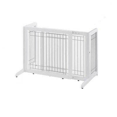 """Freestanding Pet Gate Finish: Origami White, Size: Small (20.1"""" H x 26.4"""" - 40.2"""" W x 17.7"""" D)"""