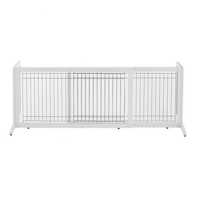 """Freestanding Pet Gate Size: Large (20.1"""" H x 39.8"""" - 71.3"""" W x 17.7"""" D), Finish: Origami White"""