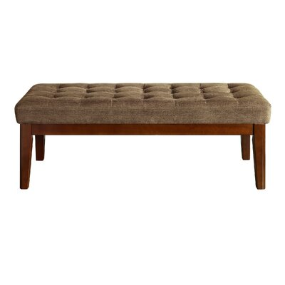 Claire Tufted Upholstered Bench Upholstery: Dusted Truffle