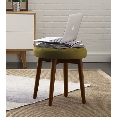 Penelope Round Tufted Accent Stool Color: Key Lime