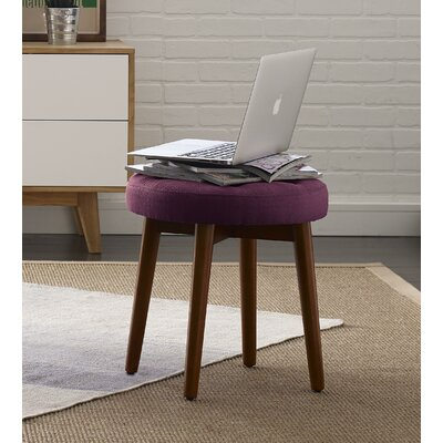 Penelope Round Tufted Accent Stool Color: Royal Eggplant