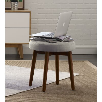 Penelope Round Tufted Accent Stool Color: Storm Gray