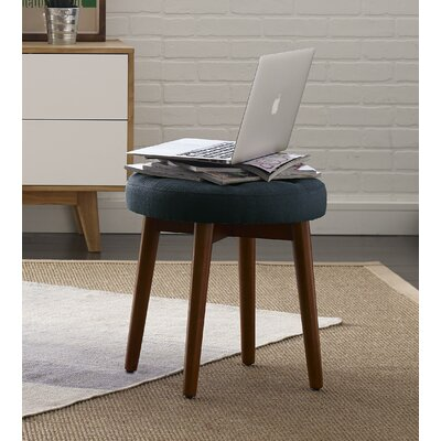Penelope Round Tufted Accent Stool Color: Bohemian Blue