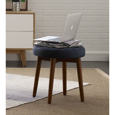 Penelope Round Tufted Accent Stool Color: Rich Navy
