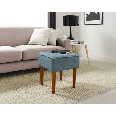 Aria Square Tufted Vanity Stool Upholstery: French Blue
