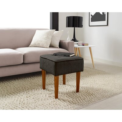 Aria Square Tufted Vanity Stool Upholstery: Charcoal Gray