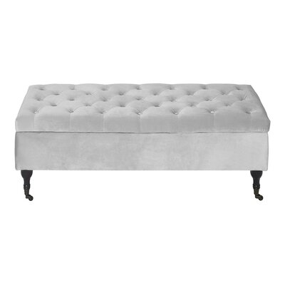 Collette Tufted Upholstered Storage Bench Upholstery: French Pearl Gray Velvet