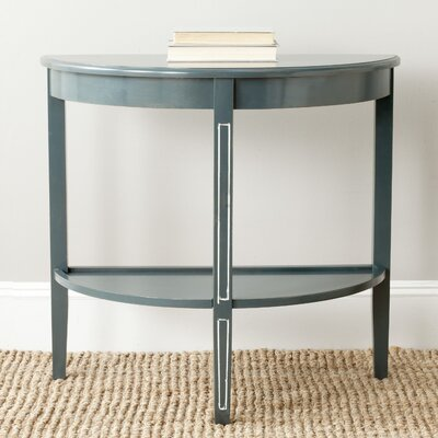 American Home Amos Console Table Color: Steel Teal