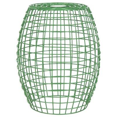 Fox Eric Grid Garden Stool Color: Green