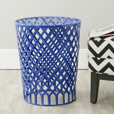 Fox Thor Welded Iron Strips Accent Stool Color: Dark Blue