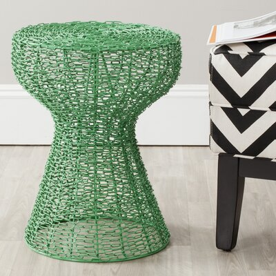 Fox Tabitha Iron Chain Stool Color: Green