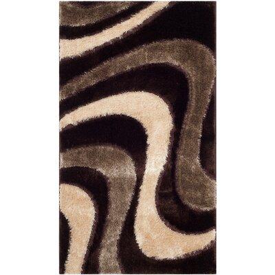 Safavieh Miami Shag Hand-Tufted Brown/Beige Area Rug