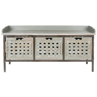 Isaac Wooden Storage Bench Color: French Grey