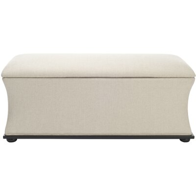 Kate Upholstered Storage Bench Upholstery: Beige