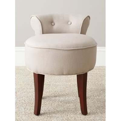 Chloe Vanity Stool Color: Taupe