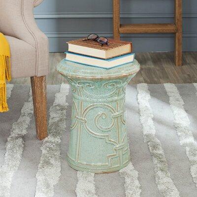 Imperial Scroll Garden Stool Color: Reactive Aqua