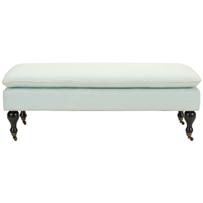 Maggie Robins Egg Pillowtop Bench Color: Robin's Egg Blue
