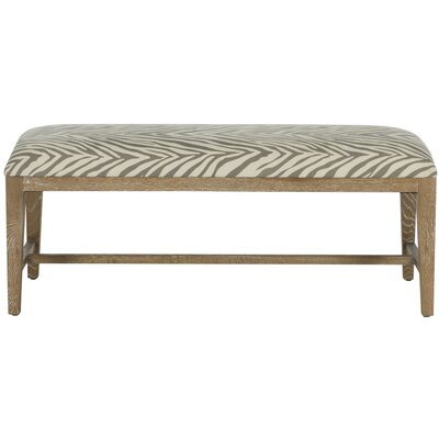 Kaylie Two Seat Bench Color: Grey Zebra