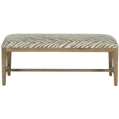Kaylie Two Seat Bench Color: Grey Zebra